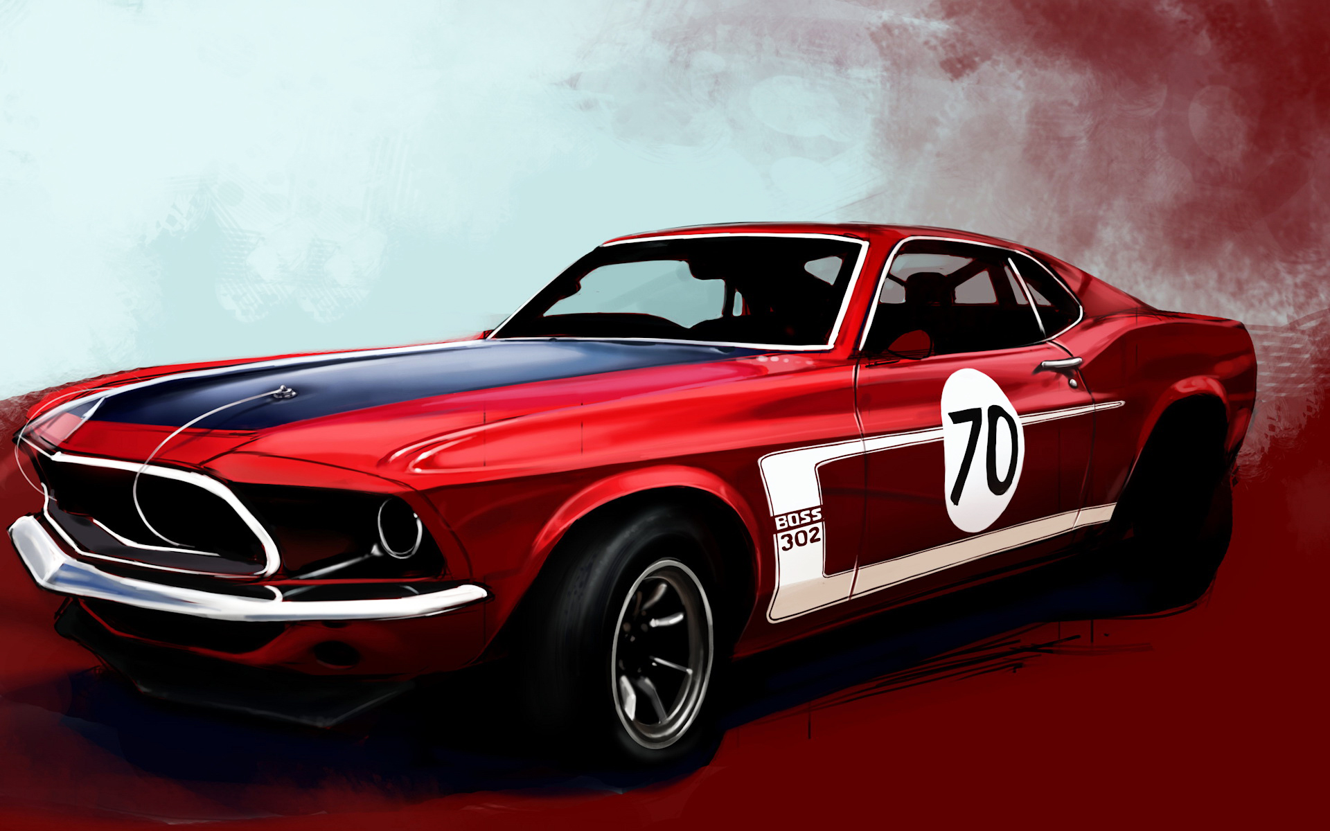Drawn_wallpapers_Red_sports_car_013837_