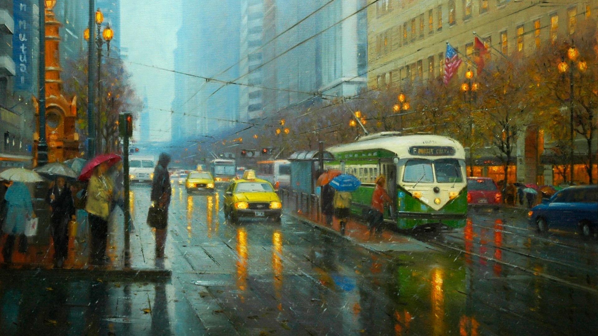 rain-city-wallpaper-hd-resolution-For-Desktop-Wallpaper